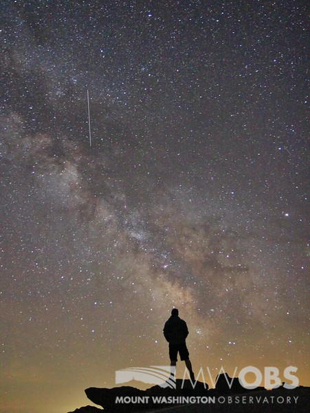 An Observer admiring the sky during a clear night
