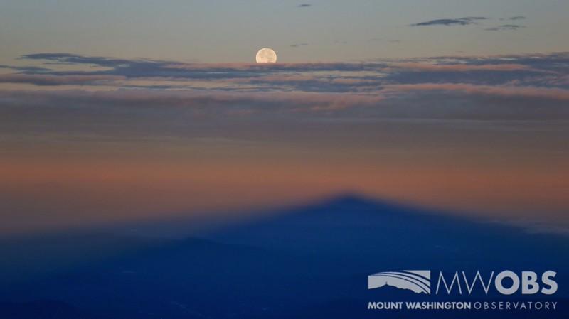 Moon and Summit Shadow, 28 Sept 2015