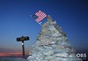 American Flag by the Summit Sign