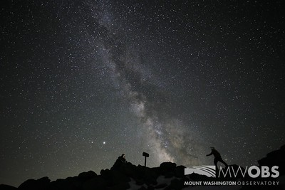 Saturn, Jupiter, and the Milky Way