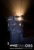 Spot light on the top of the tower to assist the night observer in deicing duties.