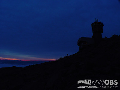 Weather Observation tower at dawn.