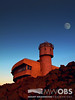 Moon over the weather observation tower