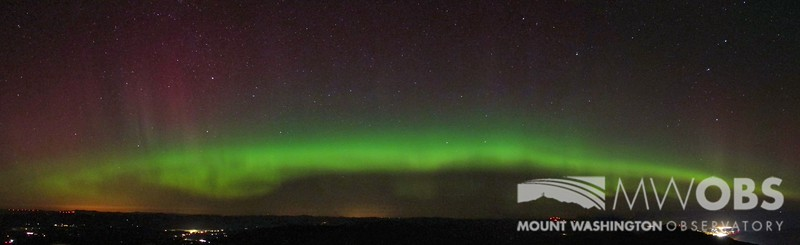 Panoramic view of the Northern Lights that occurred in November 2012.