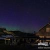 Tip Top House, the summit sign, and the Stage Office with an Aurora overhead. Taken morning of May 1, 2013.