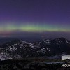 Weather tower with Northern Presidentials and the Aurora Borealis.  Taken morning of May 1, 2013.