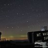 Summit sign with Big Dipper and Faint Northern Lights