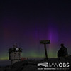 Weather Observer sitting on the summit watching the Northern Lights.  Taken morning of May 1, 2013.