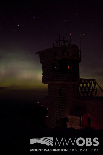 The Instrument Tower Backed By An Aurora