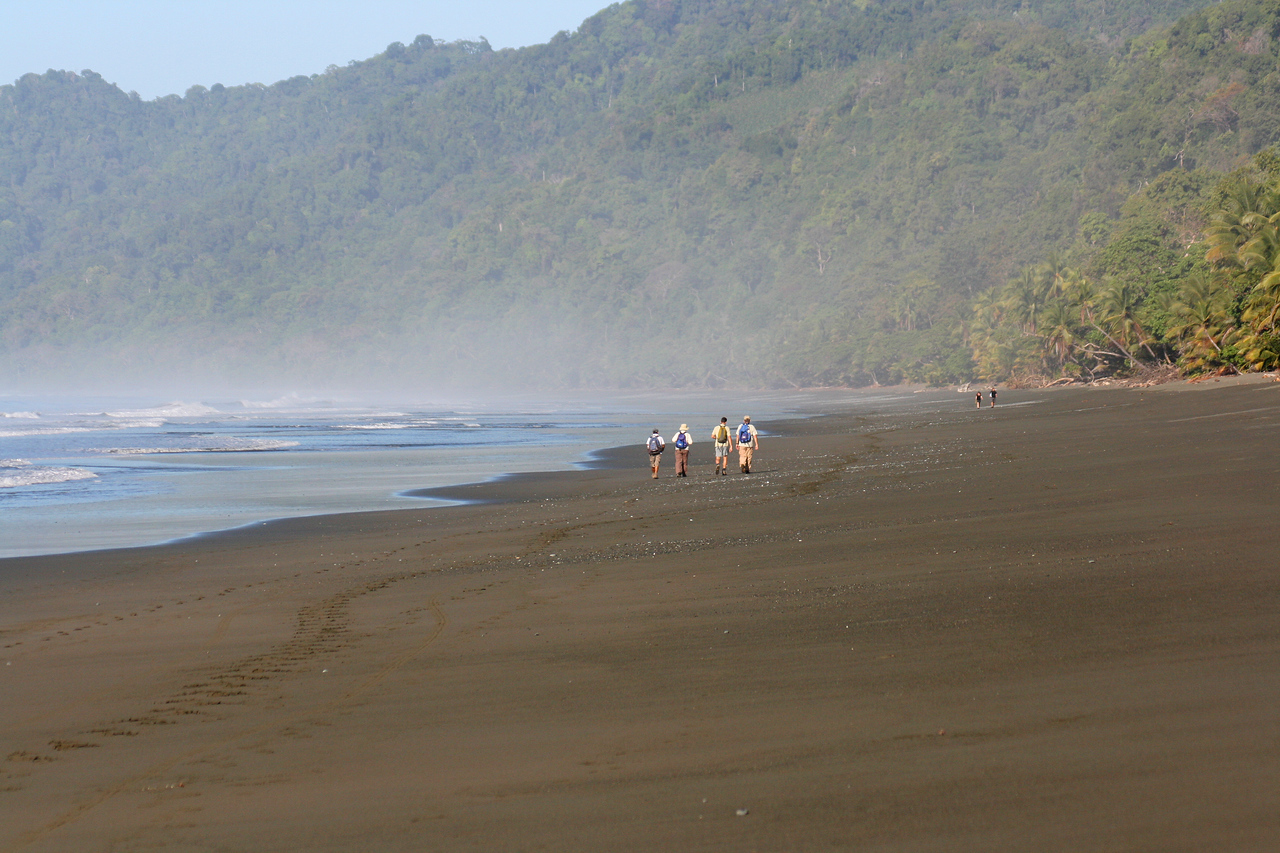 Hikers on Corcovado Beach South