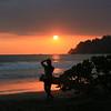 Woman Enjoys a Sunset