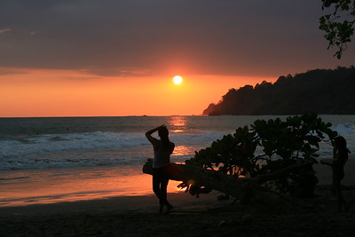 Woman Enjoys a Sunset