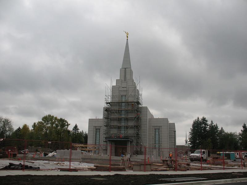 LDS Temple under construction, Vancouver, BC