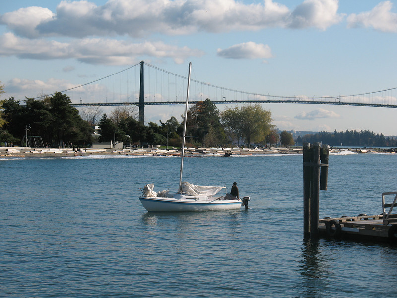 Lion's Gate Bridge from West Vancouver, BC