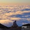 Man sitting and enjoying Undercast at Sunset