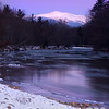 Mount Washington as seen from a stretch of the Saco River.