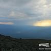 Distant Rain Shower Below a Thunderstorm