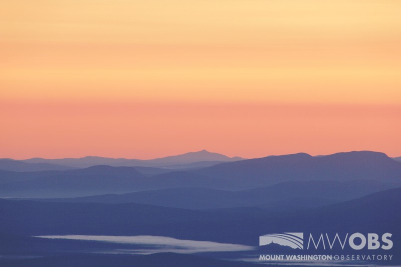 Coburn Mountain, Maine at sunrise