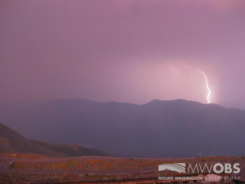 Lightning striking Carter-Moriah-Wildcat Range