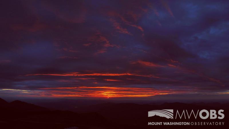 Sunrise before a summer storm.