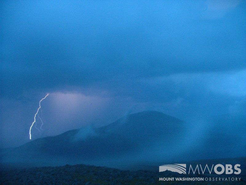 Lightning striking Mount Clay to our north.