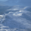 Snow and ice covered peaks of the southern Presidential Range.