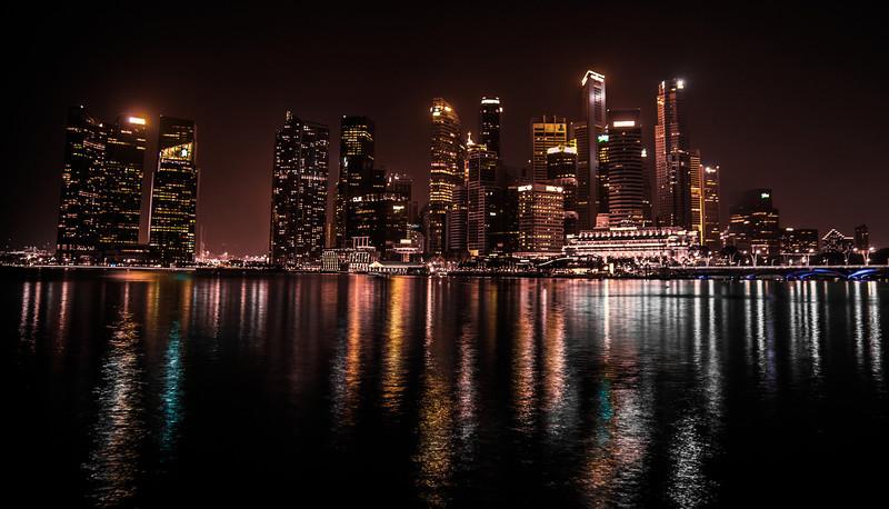 marina at night
