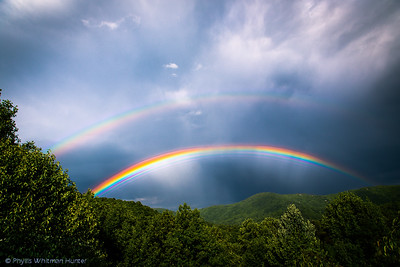 Double Rainbow forming East of Asheville