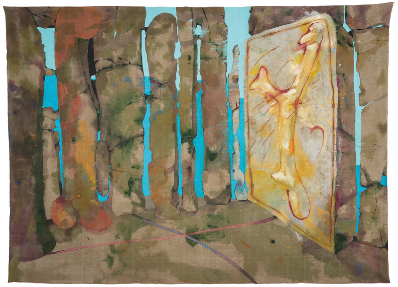 Ciel Bergman, The Green Place, 1975, acrylic on linen, 84x114 inches