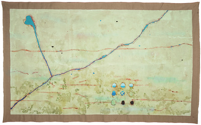 Ciel Bergman, Poetry Plagued by Comprehension, 1974, acrylic on linen, 84x138 inches