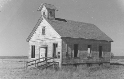 This is a photo of a building in Blackdom, possibly a schoolhouse or a church. (Courtesy of the Historical Society for Southeast New Mexico)