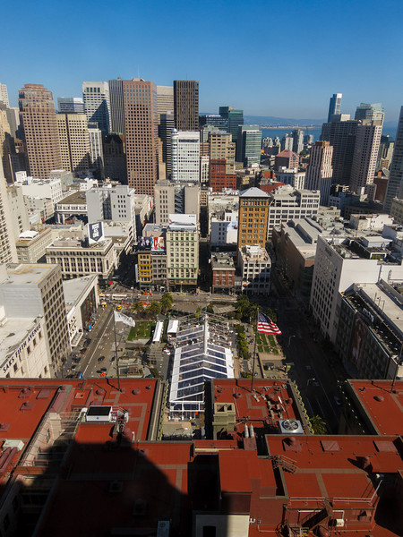 View from the Westin St. Francis elevator.