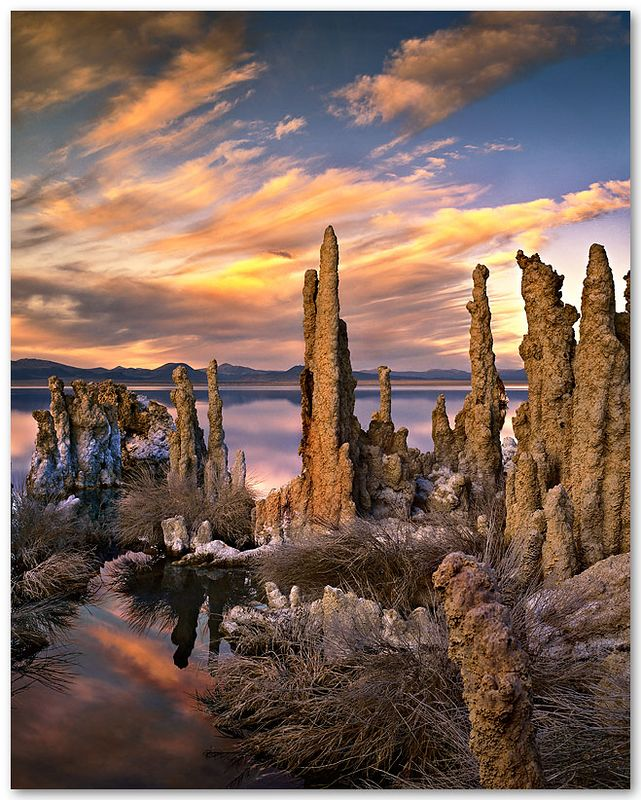 Millennium Sunset over Mono Lake, 12/31/1999