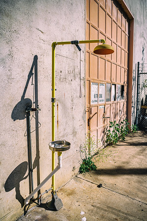 Once designated an EPA Superfund site due to toxic soil contamination, this outdoor shower in the transportation hub proves haunting.