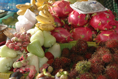 Medley of fruits Floating Market Bangkok, Thailand