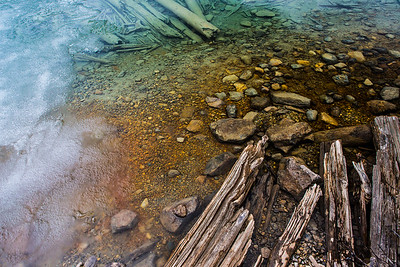 Water Rocks and Wood