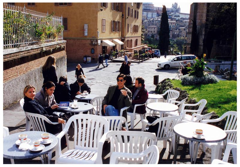 ItalyBiz Riccardo in Siena enjoying the morning caffe.