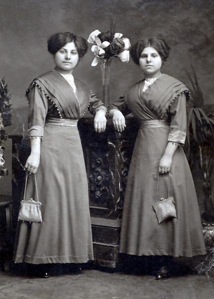 Fillipa Spatafora (rt) around 1917. Brooklyn, NY.