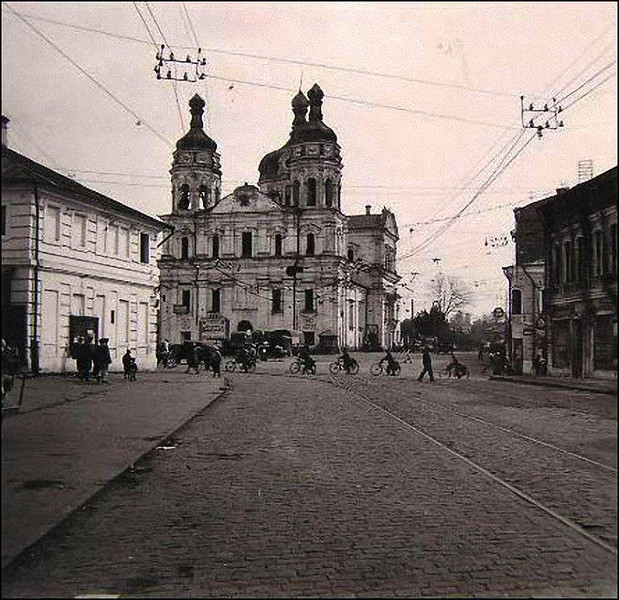 Vitebsk Belarus World War II Destruction. Beautiful Restored Russian Orthodox Church These Days.