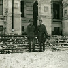 Vitebsk Belarus World War II. German Officer And Aide.