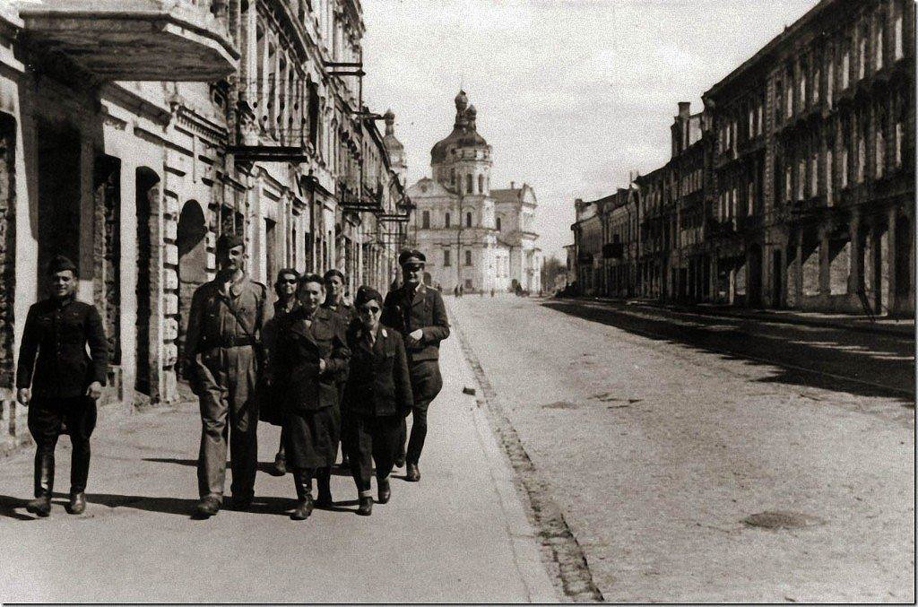 Vitebsk Belarus World War II Destruction.