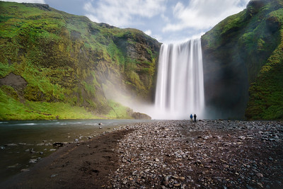 Skógafoss waterfall.