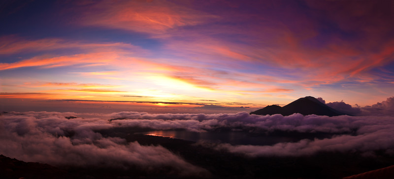 Outstanding colors in this famous sunrise at Mount Batur.