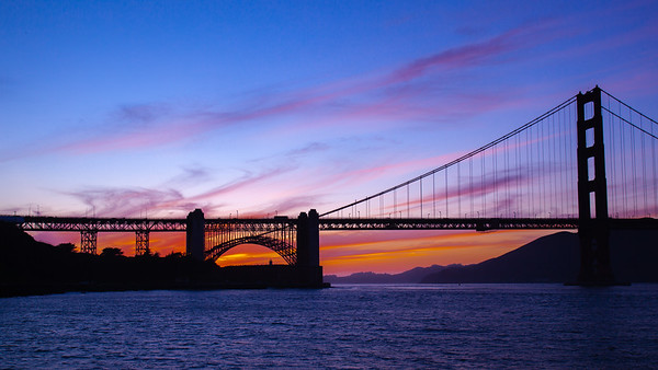 Golden Gate Purple Sunset