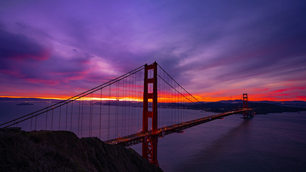 Blue Hour Golden Gate Sunrise