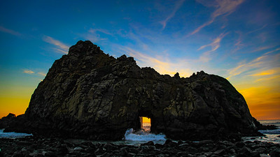 Sunset at Pfeiffer Beach Keyhole