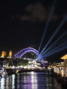 Sydney's Harbour Bridge during Vivid Sydney - photo by Pam Baker