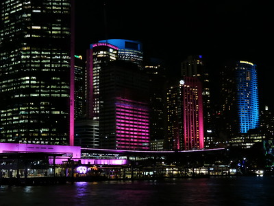 Sydney's city center during Vivid Sydney - photo by Pam Baker
