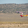 Aerobatics demo met 2 kisten