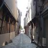 Typisch straatje in Troyes